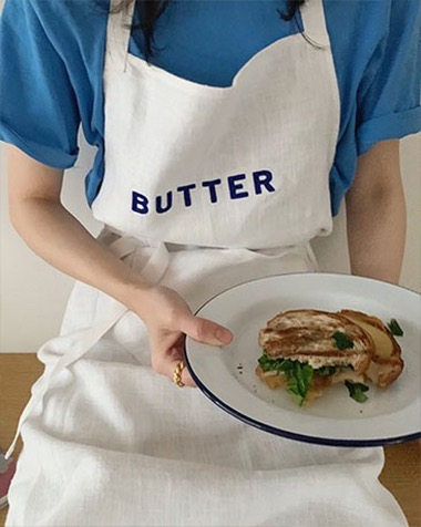 butter, tomato long apron