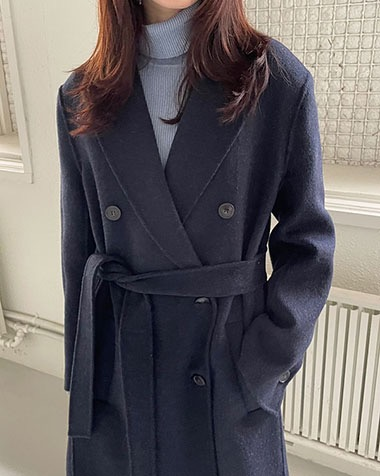 double hand made coat