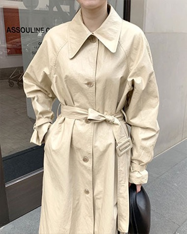 closet leather trench coat (교환, 환불 불가)