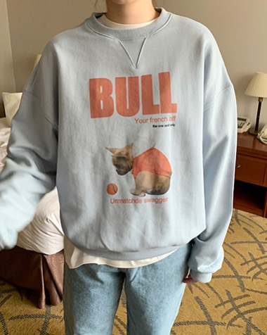 bull dog sweat shirt